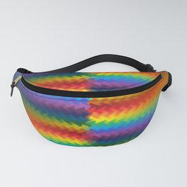 Rows of a Rainbow Fire Fanny Pack