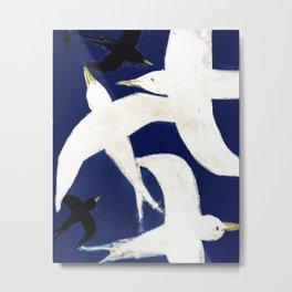Birds on blue sky Metal Print