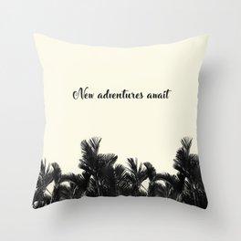 Adventues Await Throw Pillow