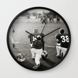 American Football players Wall Clock