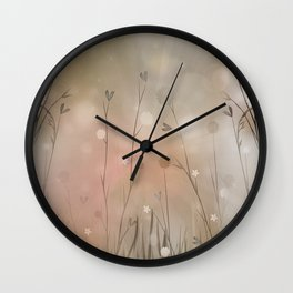 The Misty Morning Light Wall Clock