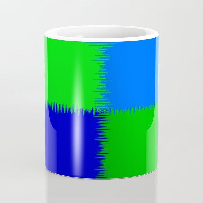 QUARTERS #1 (Blues & Greens) Coffee Mug