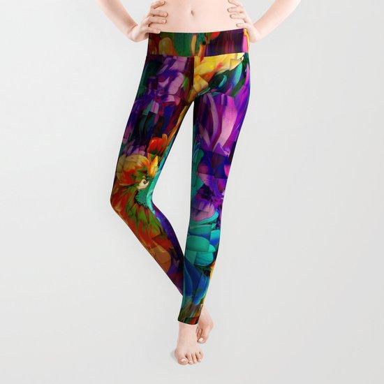 Colored Daisies Leggings
