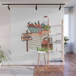 Apple Stand Wall Mural