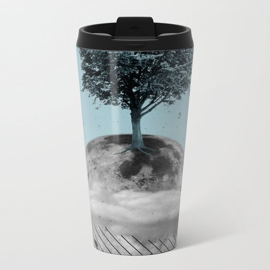 This Is How We Walk On The Moon Metal Travel Mug