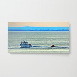 Fun with a Lobster Boat Metal Print
