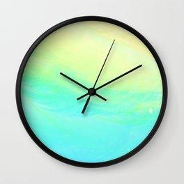Aqua Lemon Marine Coast Wall Clock