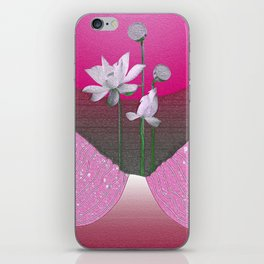 Vintage Abstract Floral Airbrush Pink Glow Relaxing Landscape iPhone Skin