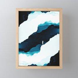 Teal Isolation Framed Mini Art Print