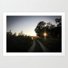 Sunflare Trail Art Print