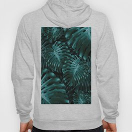 Tropical Monstera Jungle Night Leaves Pattern #1 #tropical #decor #art #society6 Hoody
