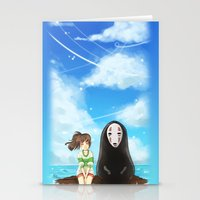 spirited away Stationery Cards featuring Spirited Away by Joana Bee