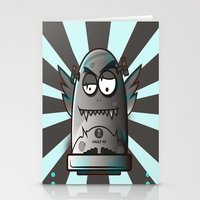 the fault Stationery Cards featuring Fault 45 03 (its not his fault) by Face Leakage