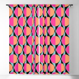 60s abstract pattern Blackout Curtain