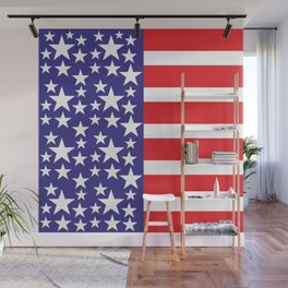 Flag of the United States of America. USA #society6 #decor #buyart #artprint Wall Mural