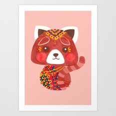 Jessica The Cute Red Panda Art Print