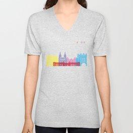 Burgos skyline pop Unisex V-Neck