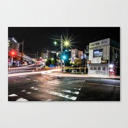 Narita light-trails Canvas Print