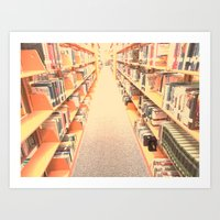 library Art Prints featuring Library by AmeeVee