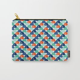 Fishy Scales Chevron Blue Carry-All Pouch