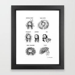 hair reality Framed Art Print