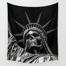 Liberty or Death B&W Wall Tapestry