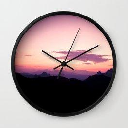 Fuchsia Sunset Wall Clock