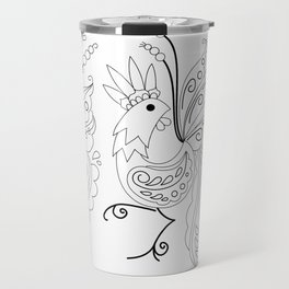 Folklore Rooster - Swedish Folk Art Travel Mug
