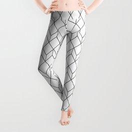 Optical pattern 81 black and white Leggings