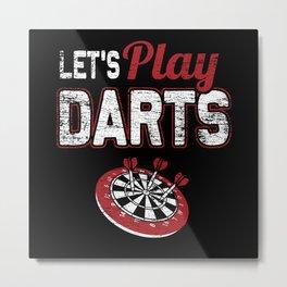 Play Darts Metal Print