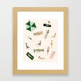 Beach Art Print Framed Art Print
