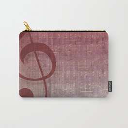 Red Pink Grunge Music Sounds Carry-All Pouch