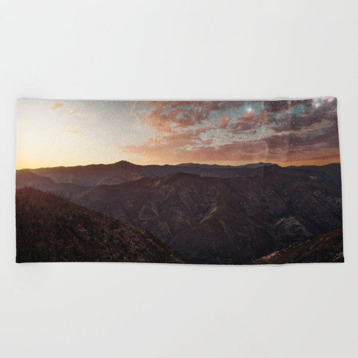 Sundown Yosemite Beach Towel