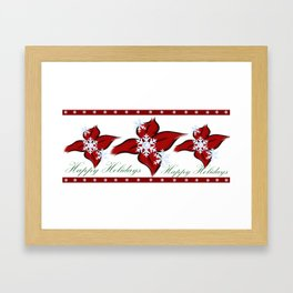 Happy Holiday's (Merry Christmas) (Season' Greetings) Framed Art Print