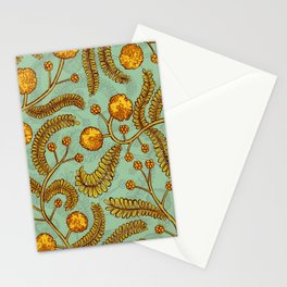 Acacia flower pattern  Stationery Cards