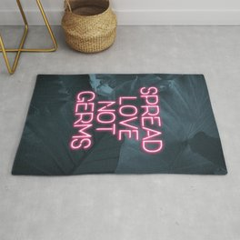 Spread Love not Germs Rug