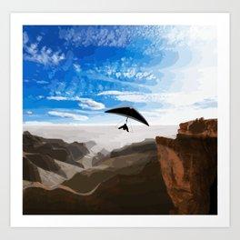 Hang gliding Art Print