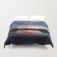florida Duvet Covers featuring Florida Sunset by Asylum Photography