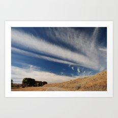 Rode to Blue Sky Art Print