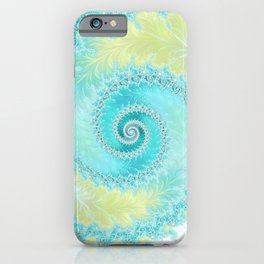 Teal Dreams Collection (1) - Fractal Art  iPhone Case