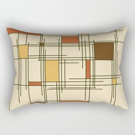 1940s Abstract Art Lines Rectangular Pillow