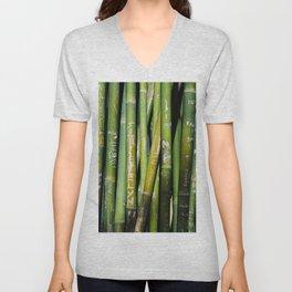 Bamboo Carvings Unisex V-Neck