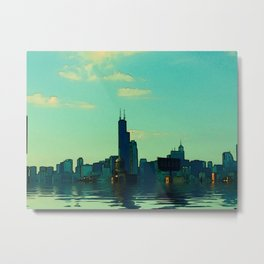 Rainy Days Chicago #2 Metal Print