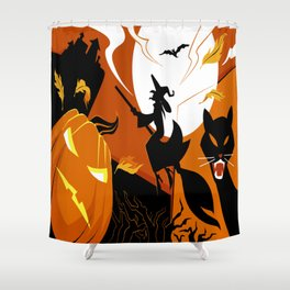 Witch hunt Shower Curtain
