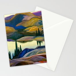 Franklin Carmichael - Mirror Lake - Canada, Canadian Watercolor Painting - Group of Seven Stationery Cards