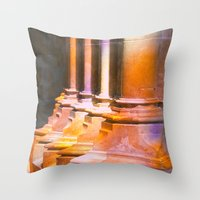 stone Throw Pillows featuring stone by Tereza Del Pilar