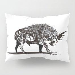 Ramming 1. Black and white background. Pillow Sham