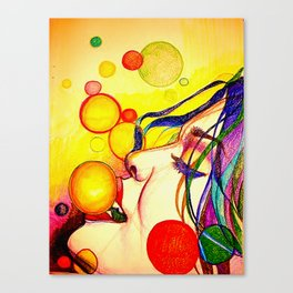 Kissing bubbles Canvas Print