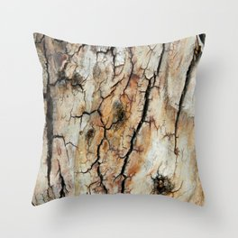 Cracked tree bark  Throw Pillow