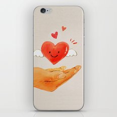 Love in your hand iPhone & iPod Skin